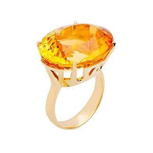 Anel -Citrino - Ouro 18k