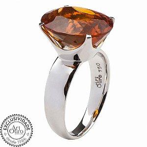 Anel de ouro 18k - Citrino - Classic - Pedra Preciosa