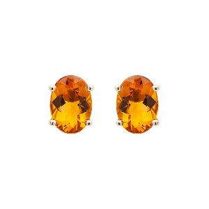 Brinco de Ouro - Citrino - Pedra Preciosa - Delicado
