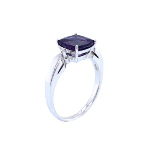 Anel De Ouro 18k - Ametista - Pedra Preciosa - Carre - Glamuroso