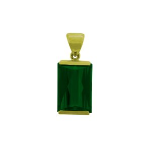 Pingente de Ouro - Turmalina - Pedra Preciosa - Charmosa