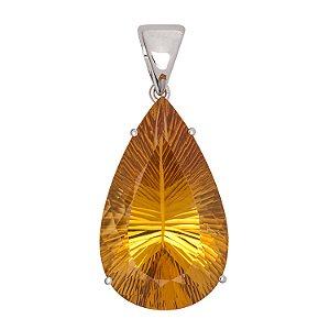 Pingente de Ouro - Citrino - pedra preciosa - milenium - Sonho