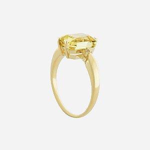 Anel de Ouro 18k - Berilo - Gemas - retangular - Glamuroso