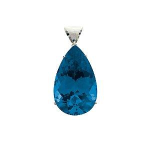 Pingente - Topázio Azul  - Ouro 18k