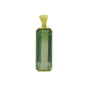 Pingente de Ouro - Turmalina Bicolor - Pedra Preciosa - Charmosa