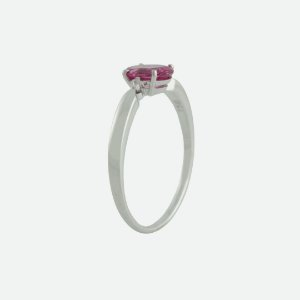 Anel De Ouro 18k - Rubelita - Pedra Preciosa - Oval - Glamurosa