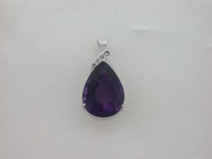 Pingente de Ouro 18k - Ametista - Pedra Preciosa - Especial