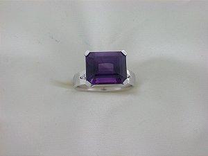 Anel de Ouro18k - Ametista - Pedra Preciosa - Especial