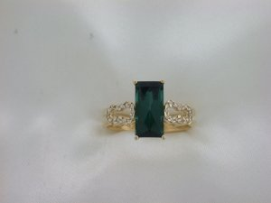 Anel de Ouro 18k  - Turmalina - Pedra Preciosa - Especial