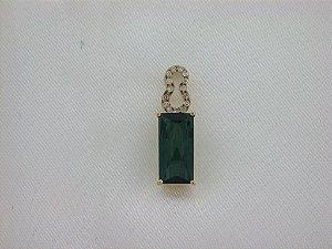 Pingente de Ouro 18k  - Turmalina - Pedra Preciosa - Especial