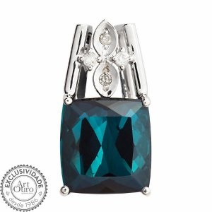 Pingente de Ouro - Turmalina - Deslumbrante - Diamante