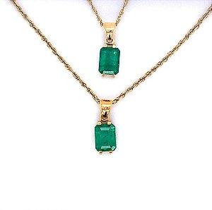 Pingente de Ouro - Esmeralda - Deslumbrante