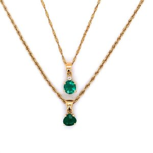 Pingente de Ouro 18k  - Esmeralda - Deslumbrante