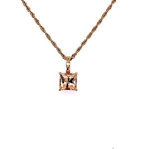 Pingente de Ouro - Pedra Preciosa - Imperial - Notável