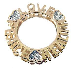 Pingente de ouro 18k - Mandala - Diamante - Pedras Preciosas