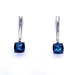 Brinco - Topázio Azul - Pedra Preciosa - Desejável
