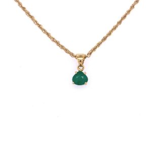 Pingente - Ouro - Esmeralda - Pedra Preciosa - Gota- Exuberante