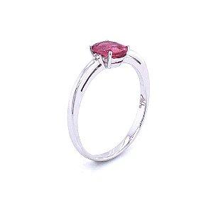 Anel De Ouro - Turmalina Rosa - Pedra Preciosa - Glamurosa