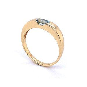 Anel de Ouro - Agua Marinha - Gemas - Magnífico