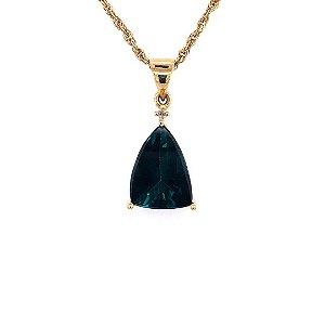 Pingente de Ouro 18k - Turmalina - Pedra Preciosa - Desejável