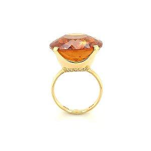Anel de Ouro - Citrino - Adorável - Gemas