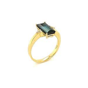 Anel de ouro 18k - Turmalina - Pedra Preciosa