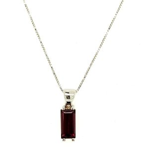 Pingente de Ouro 18k - Rodolita - Pedra Preciosa - Exuberante