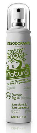 Desodorante sem Aluminio Camomila e Erva Cidreira  Spray 120 ml - Orgânico Natural