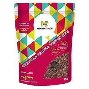 Granola Frutas Vermelhas Zero Açúcar 200g - Monama