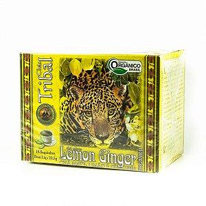 Chá  Misto Orgânico de Lemon Ginger, Chá mate, Limão e Gengibre  15 saquinhos - Tribal