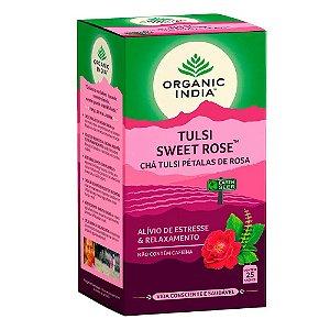 Chá Tulsi Petalas de Rosas - 25 Sachês - Organic