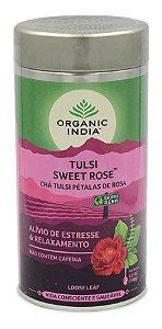 Chá Tulsi Rosa Doce Organic India - Lata 100g