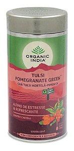 Chá Tulsi Romã e Chá Verde Lata 100 gramas