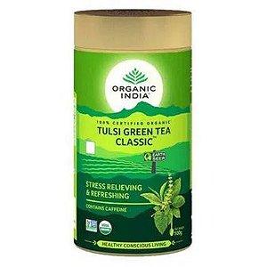 Chá Verde Tulsi Clássico Lata 100 gramas