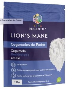 Lion's Mane Cogumelos de Poder Viva Regenera 100 g
