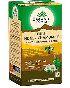 Chá Tulsi Camomila e Mel  25 Sachês - Organic India