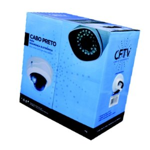 Cabo De CFTV 4 Pares 0,50MM 305 Metros Preto