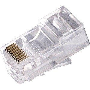 Conector RJ45 Macho Comum - PCT c/25 und