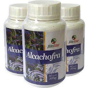 Alcachofra Concentrada 500mg 60 Cápsulas (Kit 3 unidades)