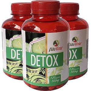 Detox 500mg 120 Cápsulas (Kit 3 unidades)