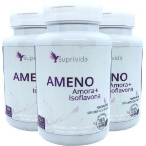 Amora Isoflavona Ajuda Menopausa Suprivida Ameno 500mg (Kit 3 unidades)