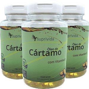 Oleo De Cartamo+vitamina E Suprivida 500mg (kit 3 unidades)