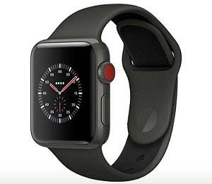e6e56617687 Apple Watch Serie 3 preto pulseira 38mm