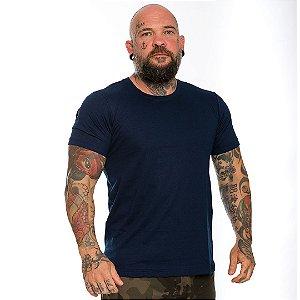 Camiseta Básica Masculina Azul Marinho Navy Blue Lisa 100% Algodão P/M/G/GG/XG