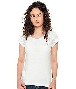 Camiseta Básica Branca Baby Look Feminina Lisa 100% Algodão P/M/G/GG