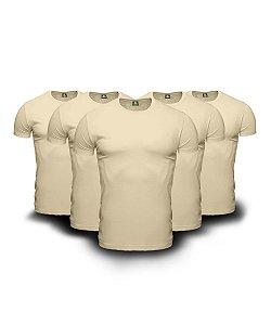 Kit 05 Camisetas Básicas Beges
