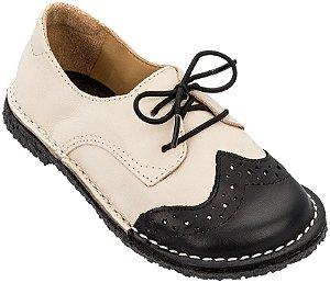 Sapato Infantil Pique-nique Preto/Creme - Teen