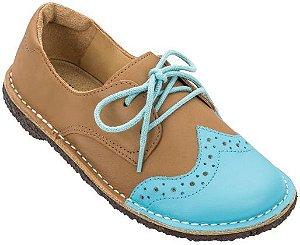 Sapato Infantil Pique-nique Céu/Caramelo - Teen