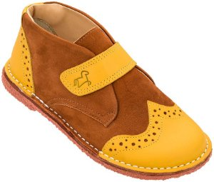 Bota Infantil Bolita Amarelo/Canela - Kids