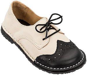 Sapato Infantil Pique-Nique Noir/ Creme
